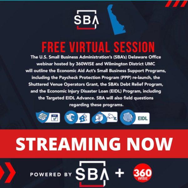 SBA Delaware Free Virtual Webinar